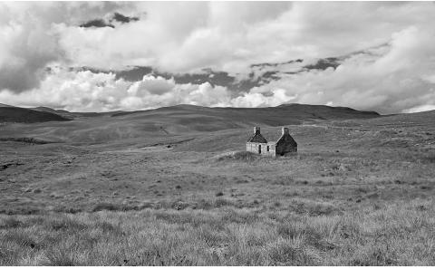 Landschaft-Fotografie-Schwarz-Weiss-Schottland
