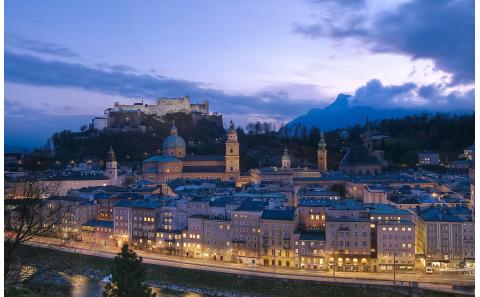 Salzburg-Altstadt-Sonnenuntergang-Salzburg-Festung-Salzach-fotosalzburg